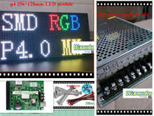 free shipping DIY video LED display kits 10 pcs P4 indoor SMD RGB Led Module (128*128mm)+RGB led controller+2 pc power supply