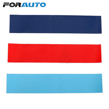 FORAUTO 3pcs/set Car Sticker Carbon Fiber front Grill Stripes For BMW M3 M5 M6 E46 E39 E60 E90 Car-styling Auto Stickers Decals image