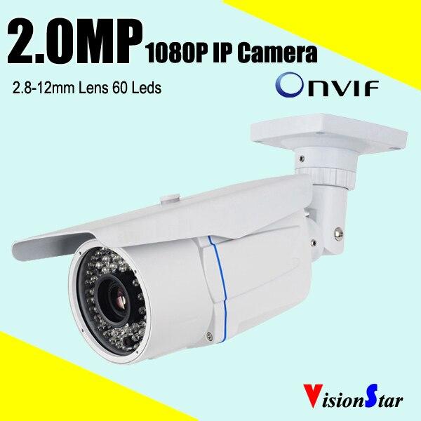 Optional color ip network camera cmos sensor sony imx322 full hd 1080p 2mp varifocal lens ip66 waterproof