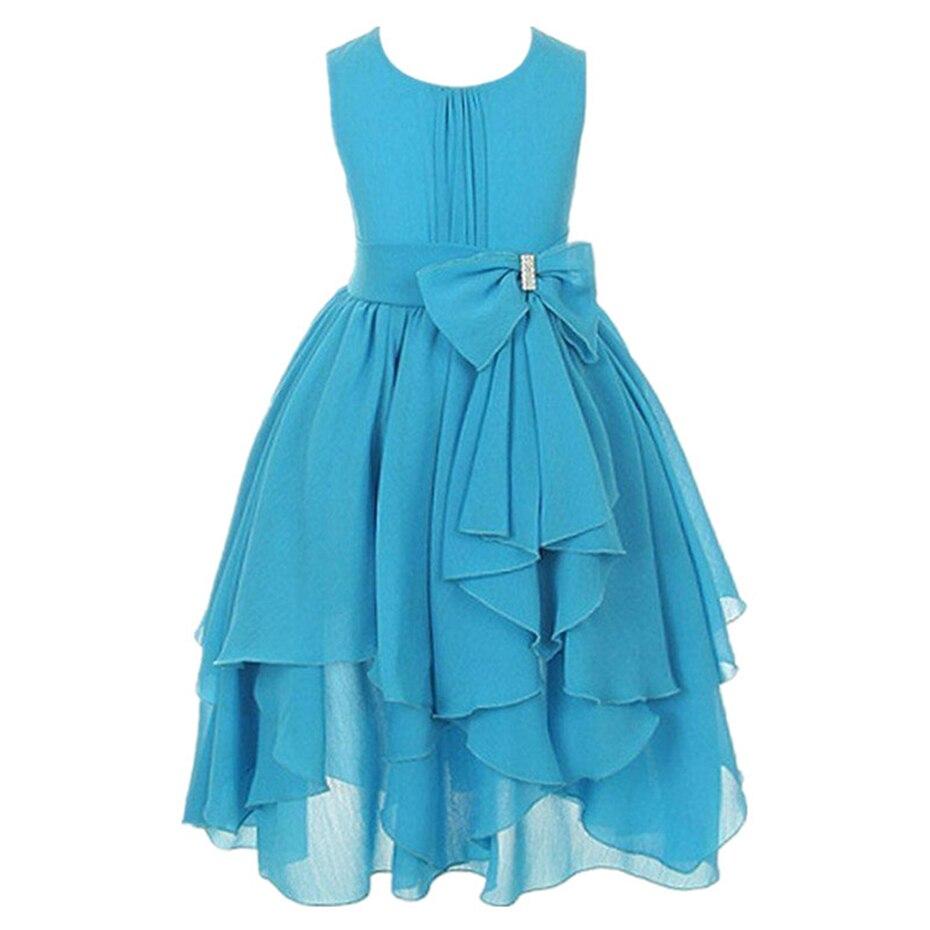 3 12Years Toddler Girls Print Princess Spring Dresses Baby Kids ...