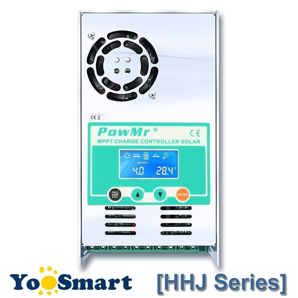 PowMr 40A 50A 60A MPPT Солнечный контроллер заряда 48 в 36 в 24 в 12 В Авто Макс 190VDC вход Герметичный и Li подсветка lcd солнечный регулятор