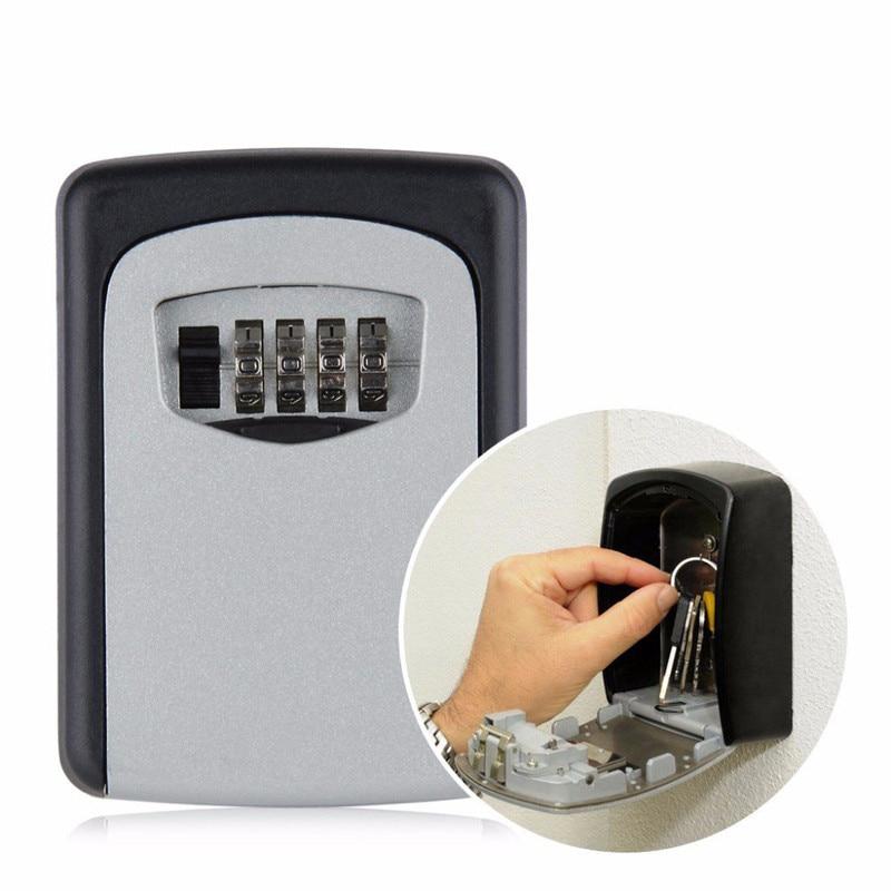 Key Lock Box 4 Password Metal Alloy Storage Key Storage ...