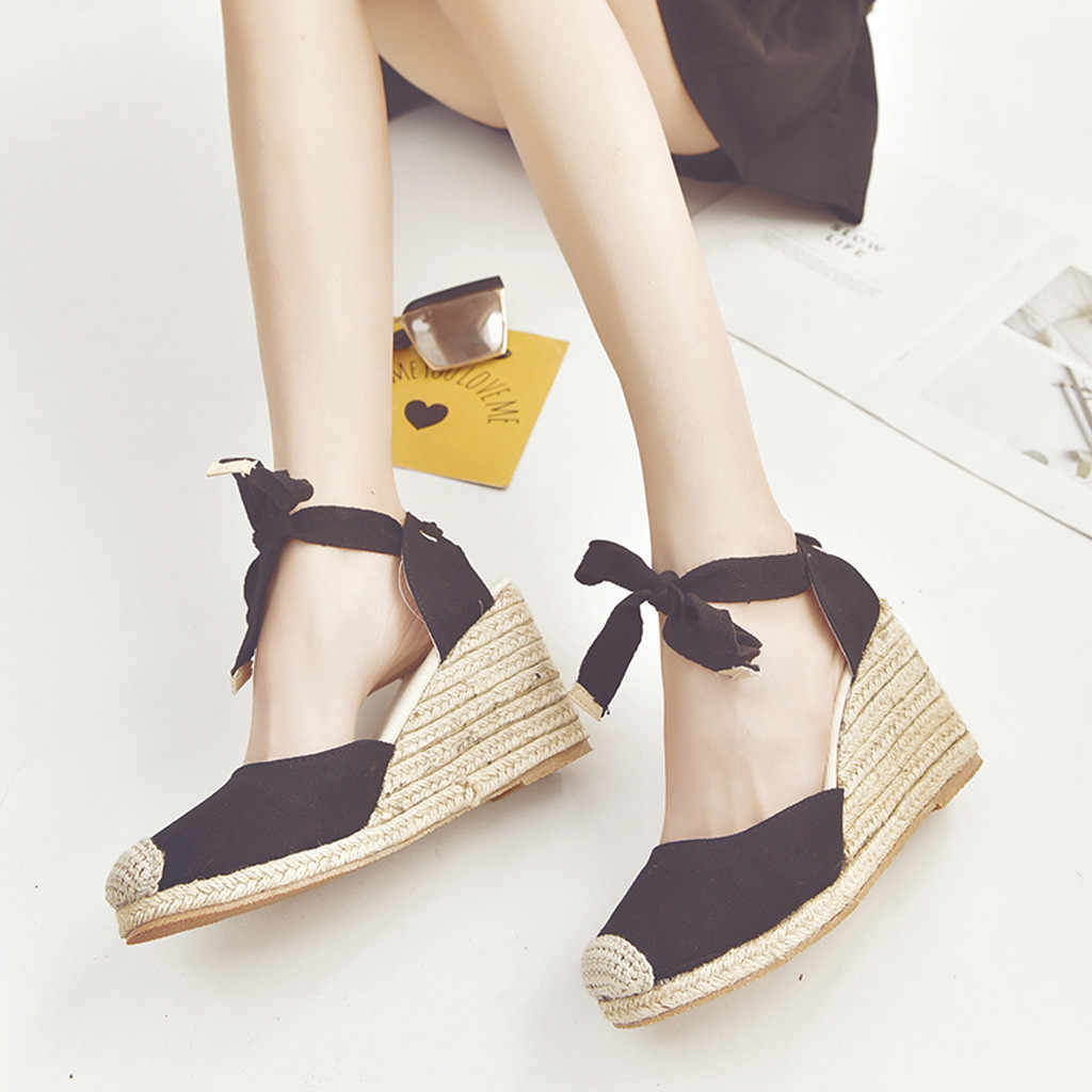 SAGACE נשים סנדלי 2019 קיץ אופנה טריזי נעלי צלב רצועת עקבים גבוהים פלטפורמת משאבת נעלי גבירותיי מקרית פלטפורמת סנדלי