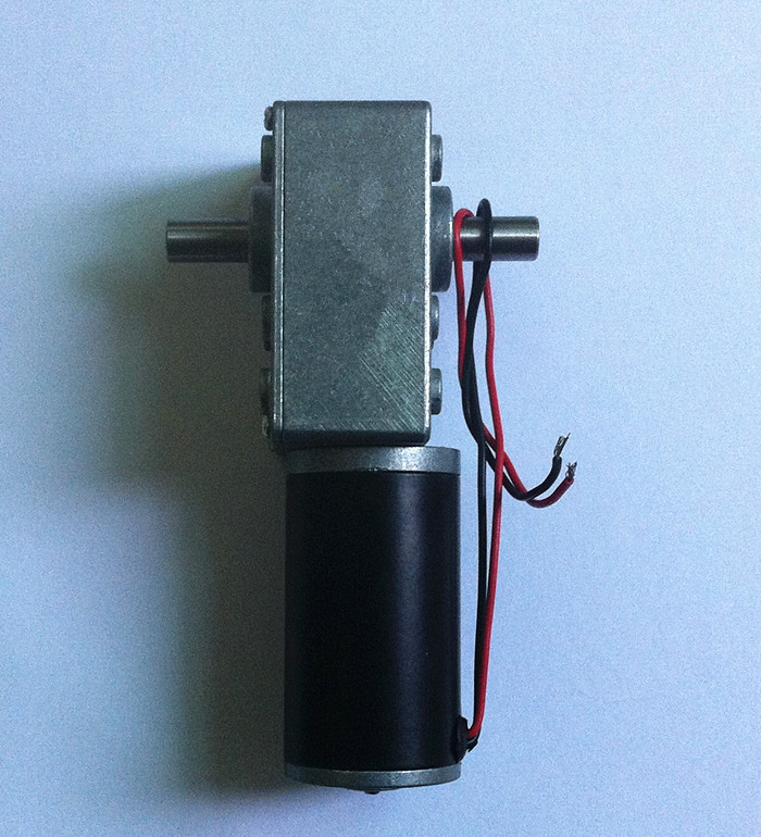 DC 24V 30rpm motor double shaft output worm gear motor, Micro motor with worm gearbox