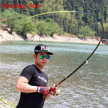 Lightweight, durable cast 2.1M-3.6M Meter Carbon Fiber Spinning Sea Telescopic Fishing Rod Exclusive Quality Carbon Fiber