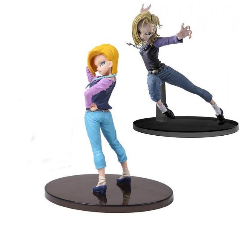 все цены на Dragon Ball Z Android No:18 Action Figure Japan Tenkaichi Budokai 6 Sculptures Figure Collectible Mascot Kid Toys 100%Original онлайн