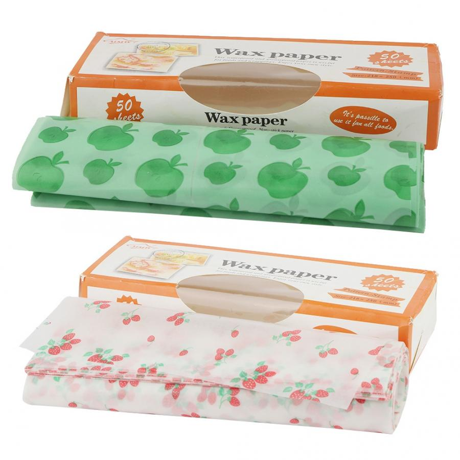 Dessert Tool Greaseproof Food Packaging Wax Paper  Candy Cake Wrapper Baking Tools Dessert Decoration Tool