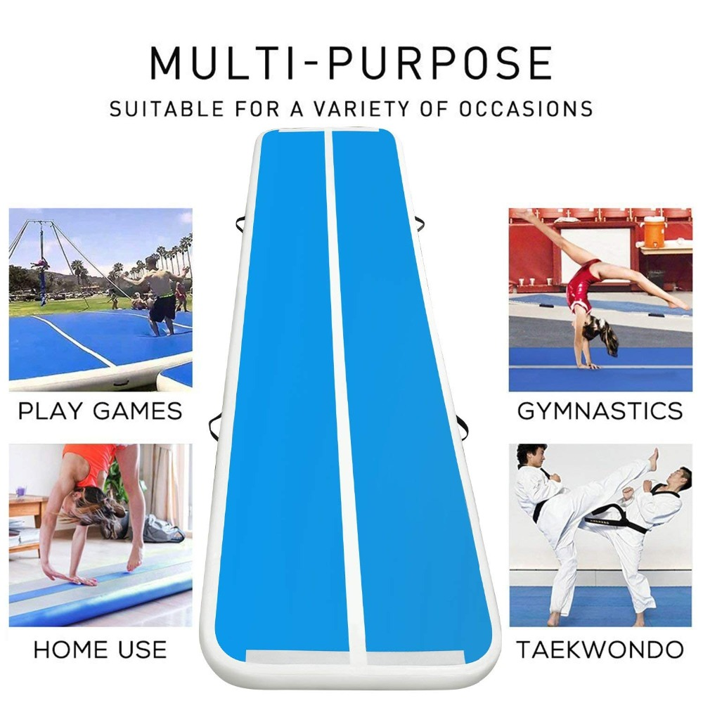 Pompe à Air électrique gonflable de Trampoline de plancher de voie d'air de dégringolade d'airtrack de gymnastique pour l'usage à la maison/formation/Cheerleading/plage