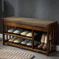 Полка для обуви из бамбука органайзер для хранения и Прихожая скамья бамбуковая мебель шкафы для обуви дома Прихожая Полка Подставка для хр