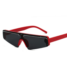 New Fashion Rimless Flat Top Sunglasses Women Red Frame Fash