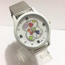 relojes mujer 2018 New Brand Bear Casual Quartz Watch Women Stainless Steel Dress Watches Relogio Feminino Ladies Clock Hot Sale