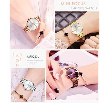 MINI FOCUS Women's Fashion Lady Stainless Steel Strap Waterproof Quartz-Watches 3