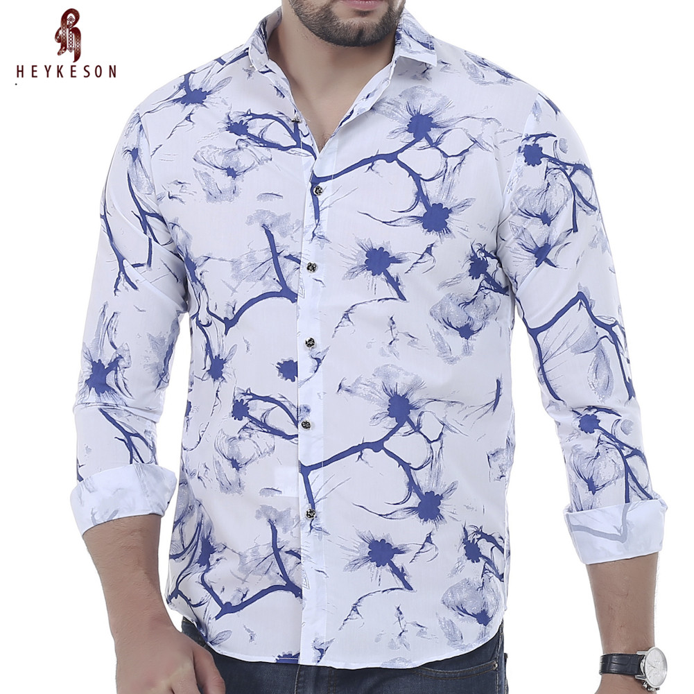 Men Shirt Luxury Brand 2016 Male Long Sleeve Shirts Casual Mens Personalized Ink Slim Fit Dress