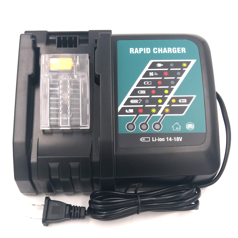 Charger for Makita,Li-ion battery,BL1830,BL1430,DC18RC, DC18RA,DC18RCT,100-240V,50/60HZ dawupine dc18rct li ion battery charger 3a 6a charging current for makita 14 4v 18v bl1830 bl1430 dc18rc dc18ra power tool