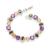 Julie multicolor cubic zircon crystal pulseras para las mujeres plateó las pulseras del encanto brazaletes joyería del banquete de boda de novia