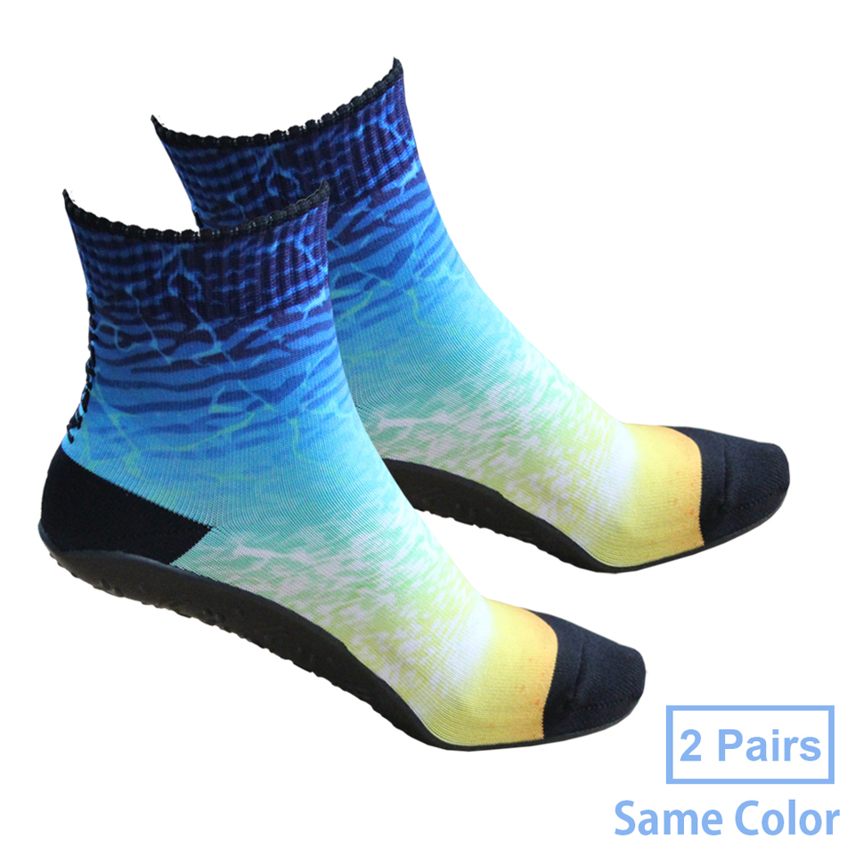 Barefoot Quick-Dry Sand Beach Socks Breathable Seamless Yoga Sock With TPE Sole