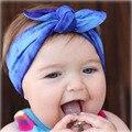 1 PC Bebê Recém-nascido Do Bebê Algodão Headband Tie-dye Atado Da Orelha de Coelho Faixa de Cabelo Para O Bebé Cabelo Headwraps acessórios