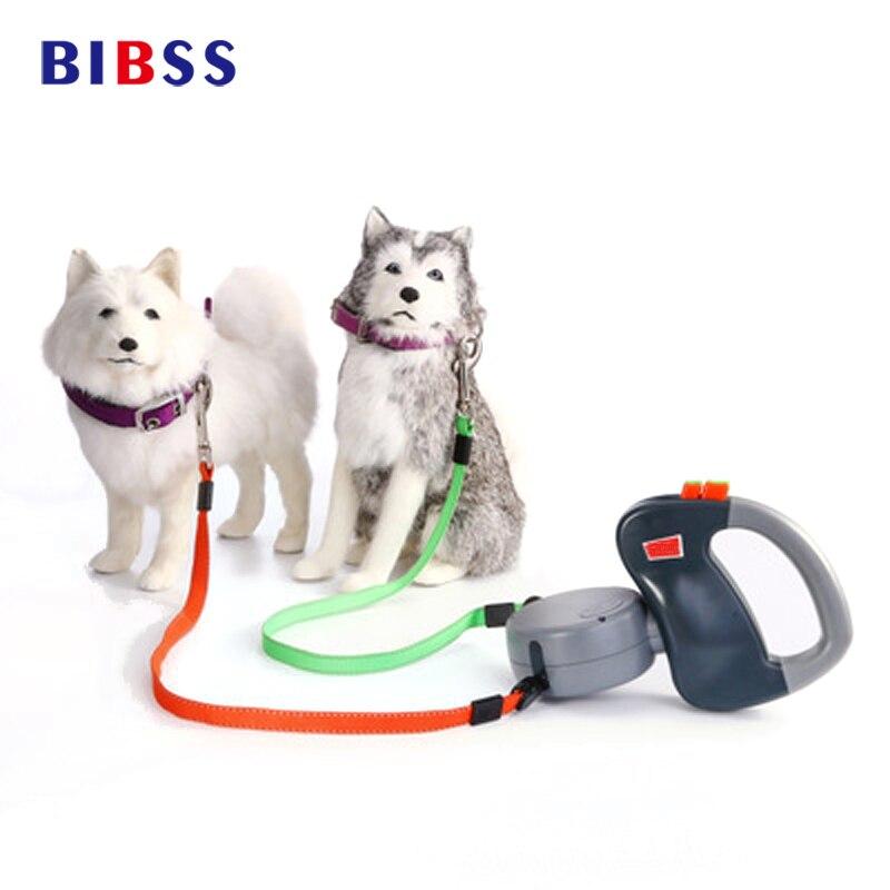 Laisse de marche rétractable automatique laisse de chien double longueur 3 M produits pour animaux de compagnie
