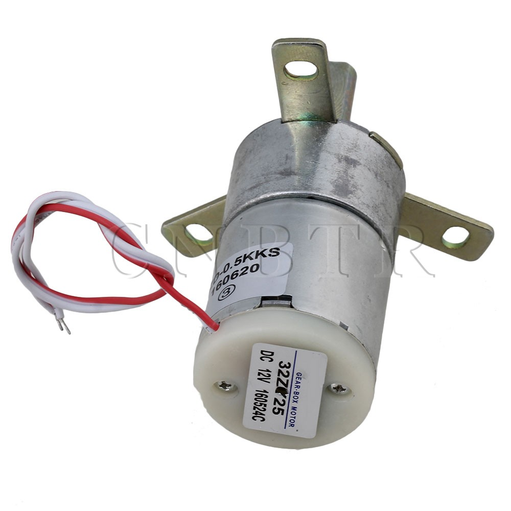 5 x High Torque Stabilivolt Electric Gear Motor with12V DC 25 RPM Silver