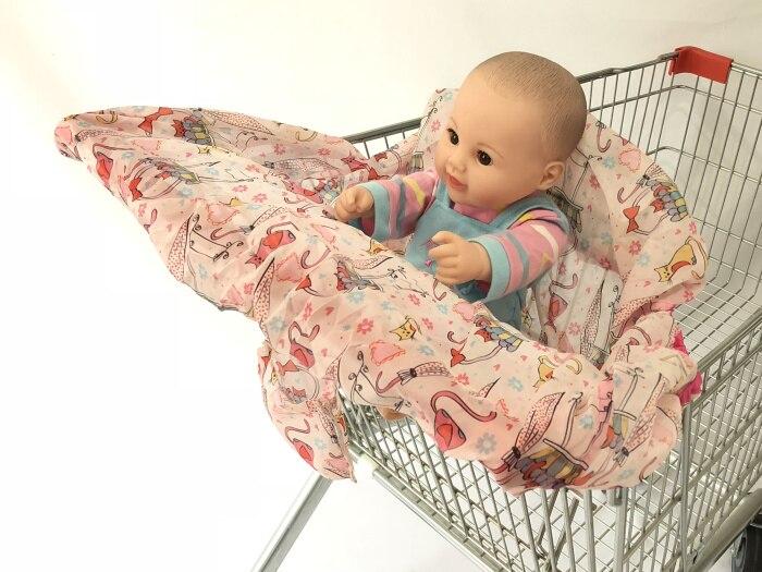 Младенческий супермаркет корзина для покупок, чехол для детского сиденья, анти-грязный чехол, детское сиденье для путешествий, подушка, не грязный, портативный - Цвет: pink cat