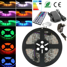 IP65 2M/3M/5M/10M Waterproof LED Strips Set RGB SMD 5050 30/60 LED/m 12W/18W/24W/30W/36W60W/120W 12V Adapter Remote Controller