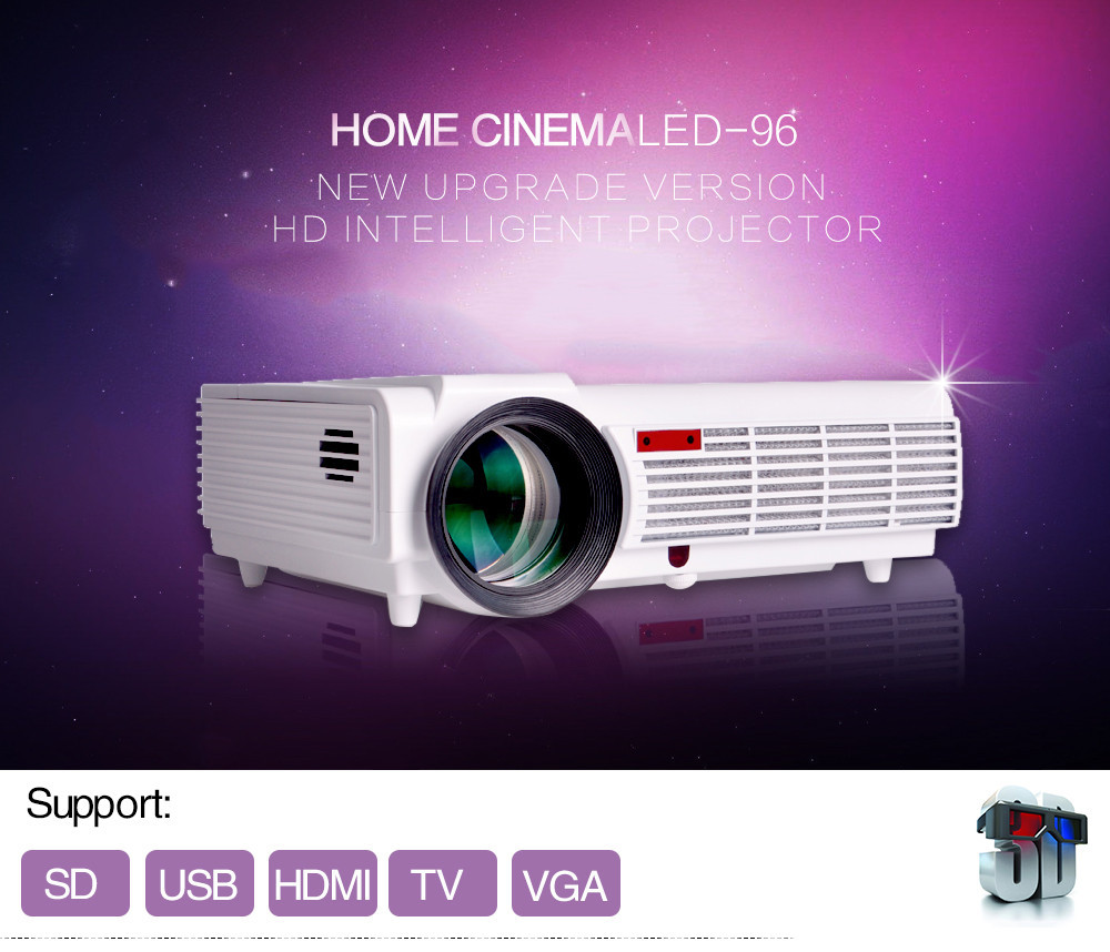LED96 Projector Full HD 1080P Android 4 4 Wifi smart RJ45 3D Home theater Video Proyector
