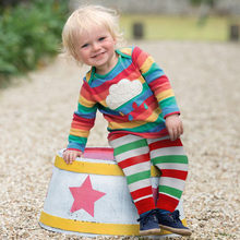 Toddler Kids Baby Girl Boy Rainbow T shirt Tops+Striped Pants Outfit Clothes Set toddler girl clothes roupas infantis menina(China)