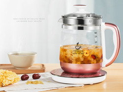 Electric kettle  glass raised pot  fully automatic thickened with multi-function heating flower teapot Overheat Protection