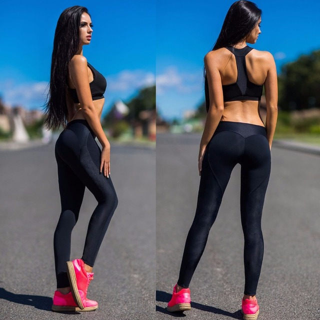 5edffdda26cde5 Women Yoga Pants Splicing peach heart-shaped women's yoga pants sports pants  big ass hip pants Training Trousers