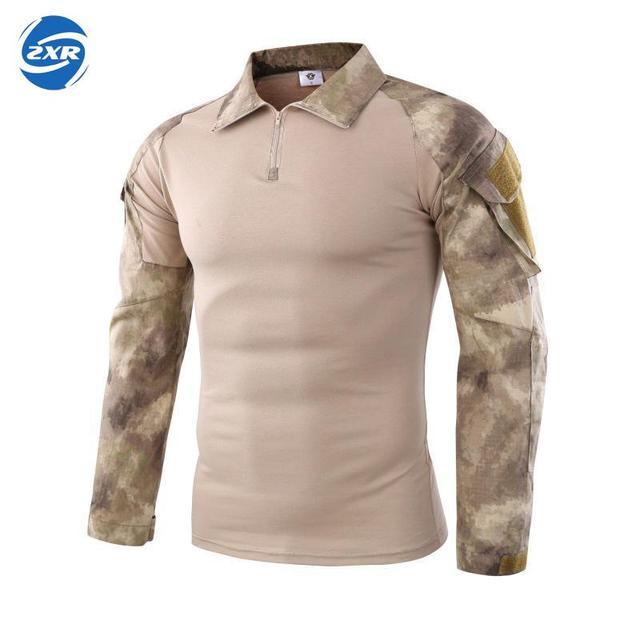 Мужские военные тактические руины камуфляжные армейские походные футболки военная сила MultiCam камуфляж с длинным рукавом охотничья футболка