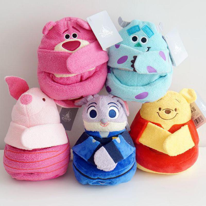 Cute Cartoon Winnie Toy Story Strawberry Bear Rabbit Pig Plush Toy Mobile Phone Seat Stuffed Animal Doll For Girls Birthday Gift toy story bunny toys