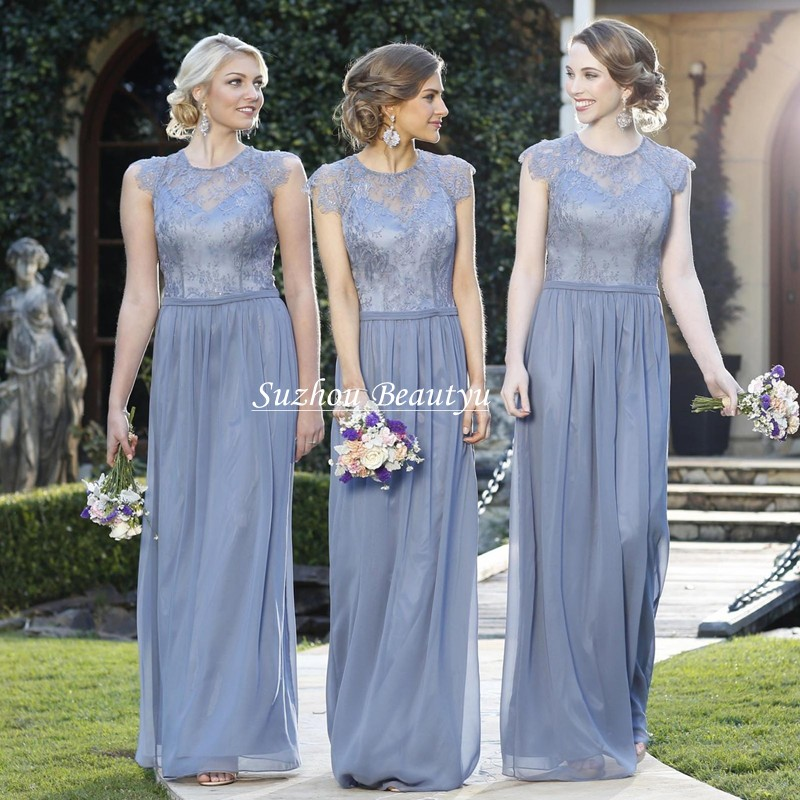 Online Get Cheap Gray Chiffon Lace Bridesmaid Dress -Aliexpress ...