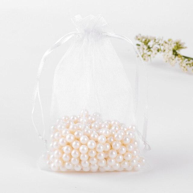 15x20cm White Organza Bags 100pcs Bolsas De Regalo Small Gift For Wedding Candy Casamento