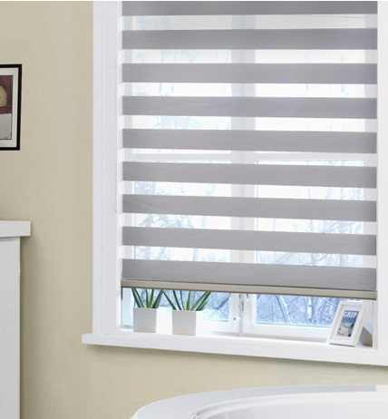 New Double Layer Zebra Blackout Roller Blinds in Curtain,Customized price for per SQM