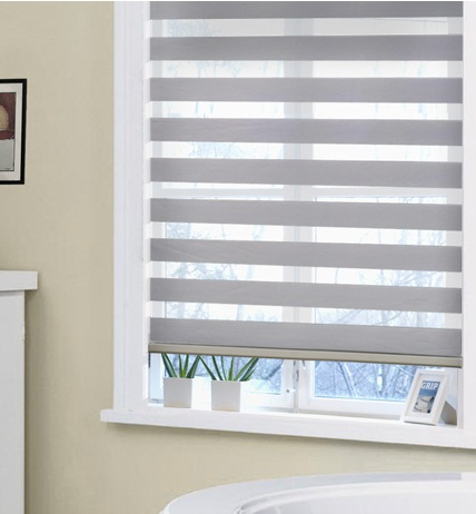 New Double Layer Zebra Blackout Roller Blinds In Curtain