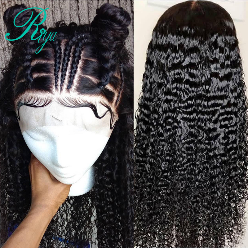 Riya 13X6 Curly Lace Front Human Hair Wigs For Women Brazilian Remy Hair Glueless Lace Wig