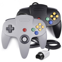 Gray + Black Classic Wired Controller Joystick for Nintend N64 64 Game System gamepad