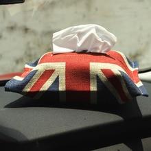 New Jack Union Car Tissue Box Handmade Cotton Paper Storage Holder for Mini Cooper One S