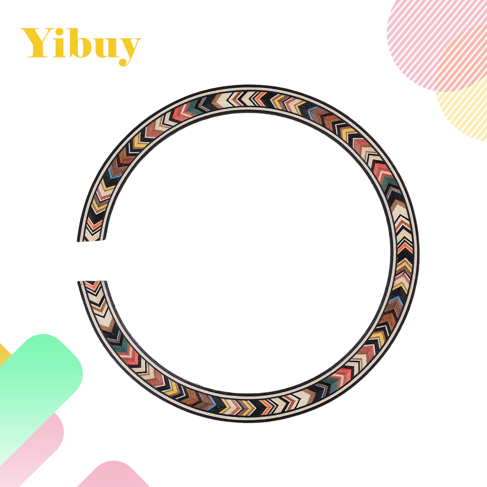 Yibuy B-77 Classical Acoustic Guitar Rosewood Soundhole Rosette Guitar Parts wood color rosewood acoustic guitar dual coil soundhole pickup with microphone