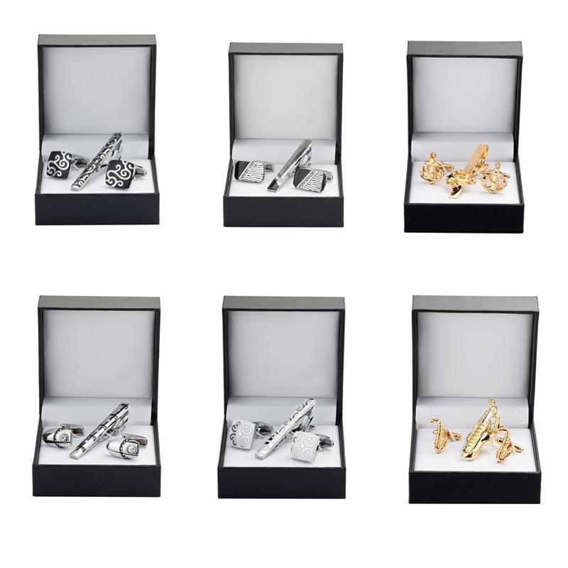 KC 999 High quality tie clip Cufflinks Gift Set 12 styles ...