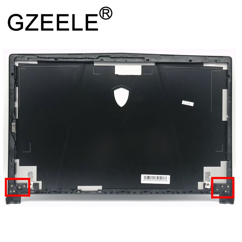 GZEELE new For MSI GE63 GE63VR GE63VR-7RE Top Case Laptop Shell LCD Rear Lid Back Cover Top Housing Case Cabinet 3077C1A213HG017 gzeele new for dell precision 17 7710 7720 m7710 m7720 top cover a case switchable lcd back cover n4fg4 0n4fg4 lcd rear lid case