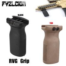 Caça tático airsoft rvg aperto vertical brinquedo arma de ar ar15 rifle polímero handheld para 20mm picatinny ferroviário keymod mão guardas