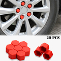Silicone Auto Wheel Hub Screw Protective Cover Nut Bolt Caps For Ford Focus 2 3 4/Kuga/Mondeo/Fiesta Car External Accessory