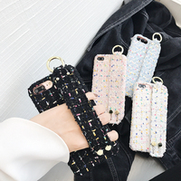 Luxury Colorful Cotton Wrist Bracelet Wristband Phone Cases For IPhone 6 6s Plus 7 8 Plus