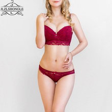 Fashion Sexy Ladies Bra Set Thin Cup Luxury Underwear Set Women Sexy Brassiere Lace Bras Push Up Embroidery 2017 Lingerie Sets
