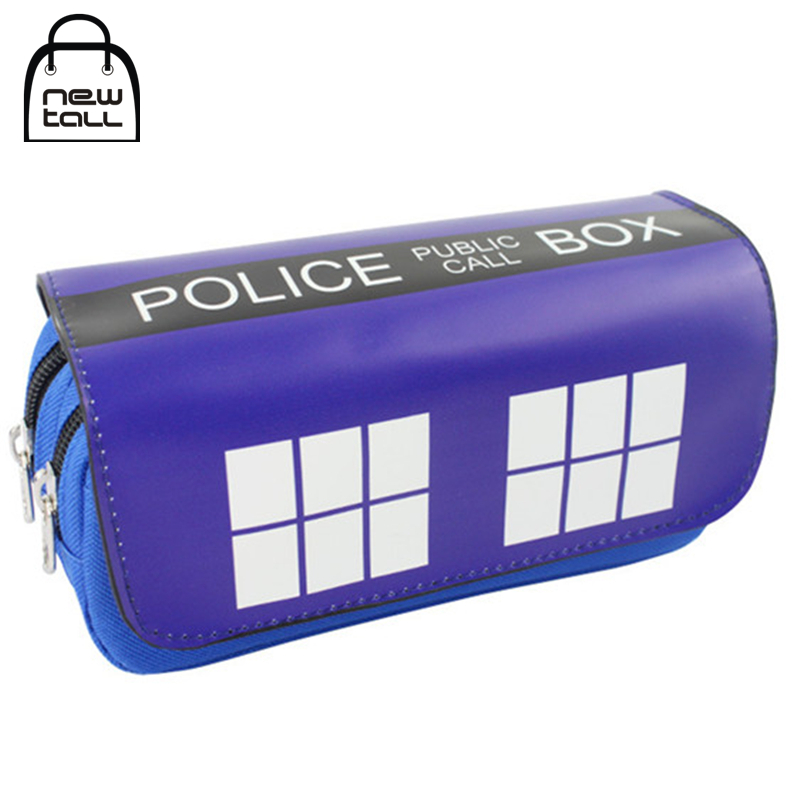 [NEWTALL] Doctor Who Police Box Pencil Case Large Capacity Organizer Wallet Magic Stick Cover Double Zipper Stationery Bag T1399 illusion money box dream box money from empty box wonder box magic tricks props comedy mentalism gimmick