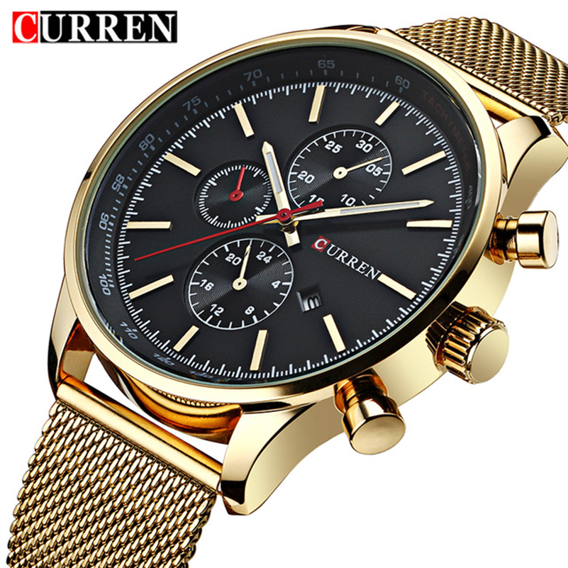 Mens Watches Top Brand Luxury Sports Watches Men CURREN Fashion Clock Dress Men's Quartz Watch Male Hours 2017 Erkek Kol Saati yazole 2018 fashion quartz watch men watches top brand luxury male clock business mens wrist watch ceasuri erkek kol saati