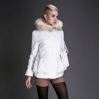 Basic Editions 2014 Winter Raccoon Fur Collar With Hood Slim Fit Down Jacket