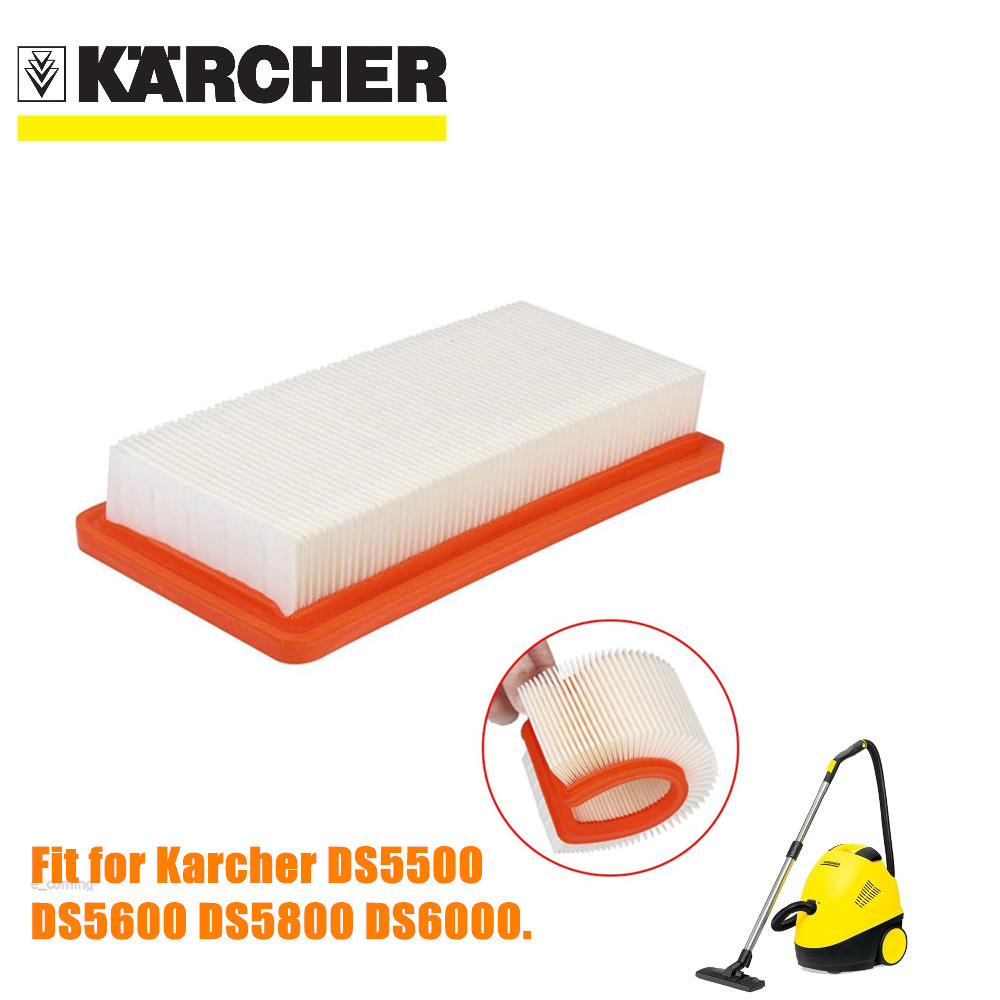 1 PCS Karcher HEPA filter for DS5500 DS6000 DS5600 DS5800 fine quality vacuum cleaner Parts Karcher 6.414-631.0 hepa filters 4 pcs karcher hepa filter for ds5500 ds6000 ds5600 ds5800 fine quality vacuum cleaner parts karcher 6 414 631 0 hepa filters