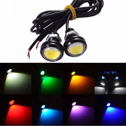 4Pcs Eagle Eye 18mm 9W Motor Car Tail Brake Turn Signal FOG DRL LED Light DC 12V 24V Car Styling More Colors Free Choose 9w red high power led eagle eye under car body lamp drl fog light 9w motorcycle 6pcs lot free shipping